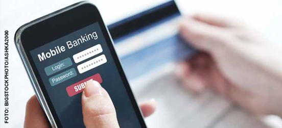 Mobiles Internet- Banking auf dem Vormarsch
